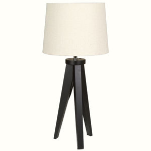 BLACK BEECH WOOD TABLE LAMP