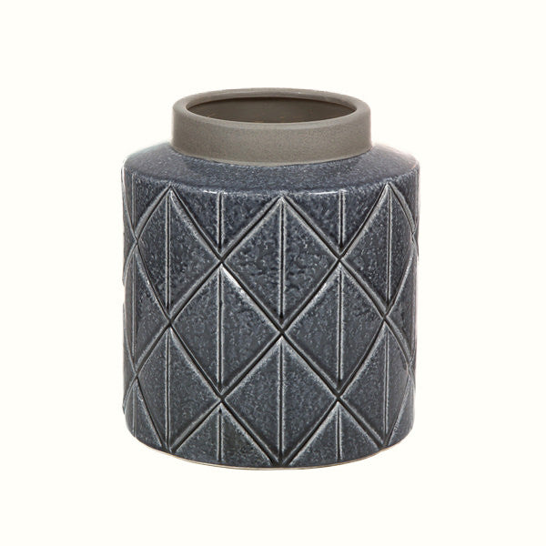 DARK GREY CERAMIC VASE