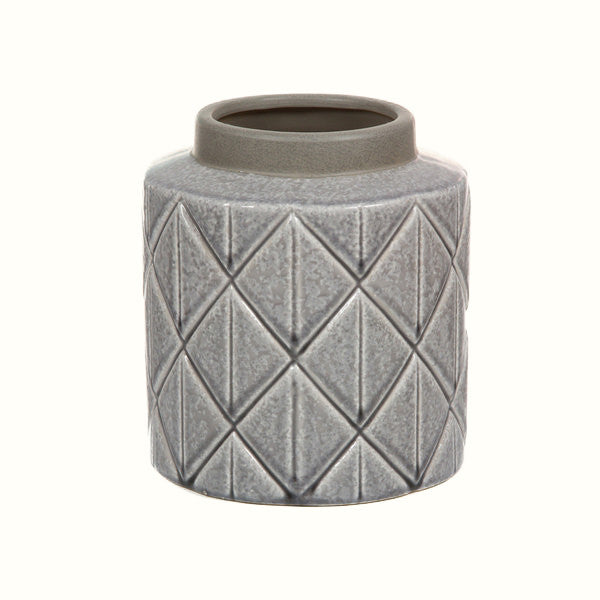 LIGHT GREY CERAMIC VASE