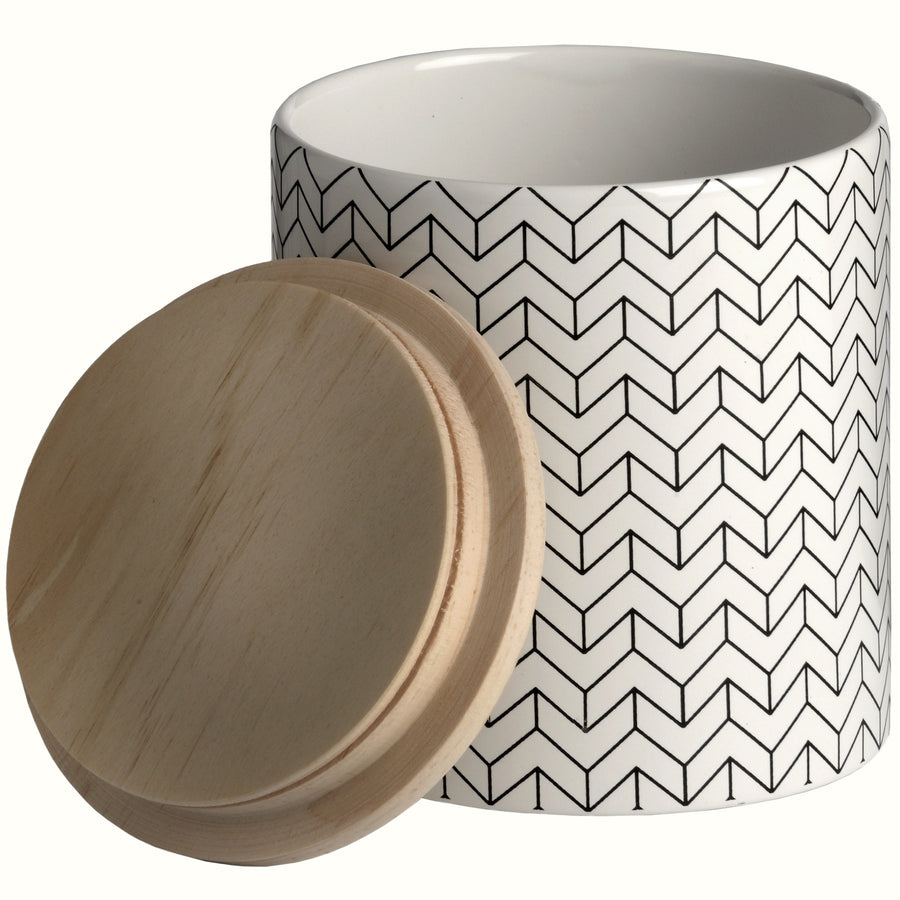 PATTERNED CERAMIC JAR