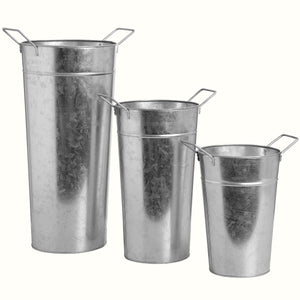 SET OF THREE FLOWER BUCKETS