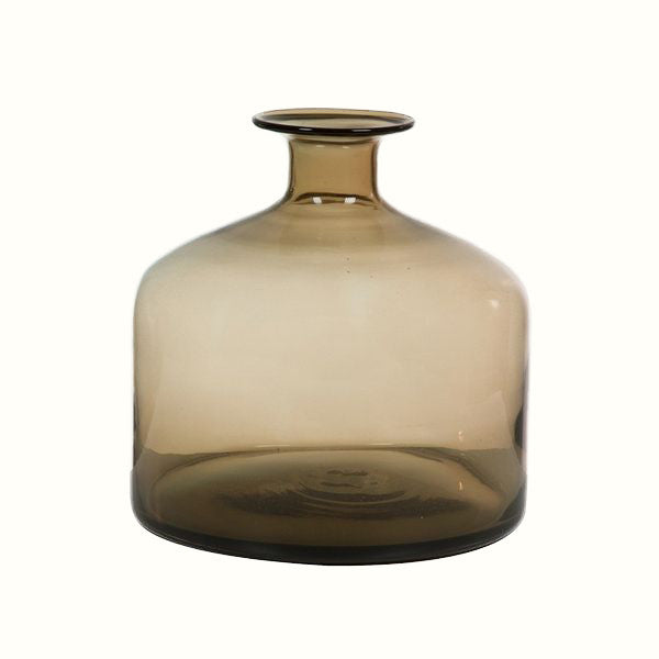 TRANSPARENT BROWN GLASS VASE (2 sizes)