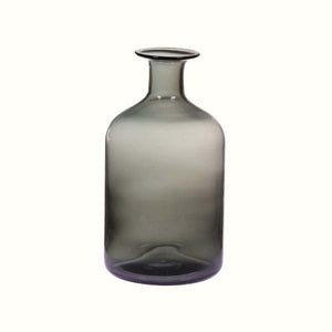 TRANSPARENT GREY GLASS VASE (2 sizes)