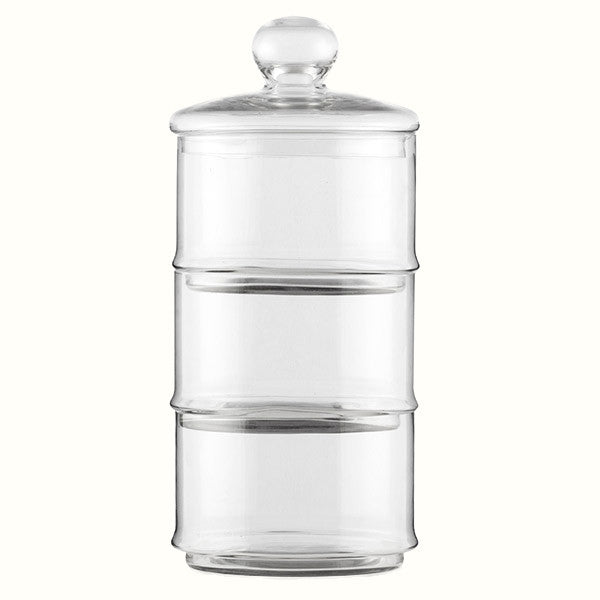 TRIPLE GLASS JAR