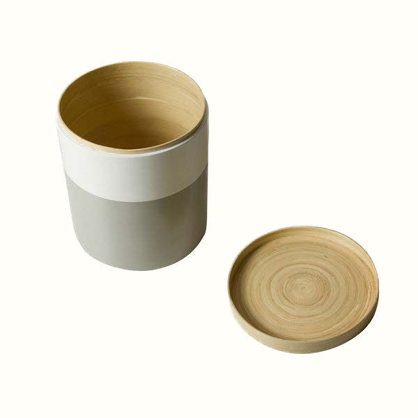 WOODEN GREY JAR (3 different sizes)
