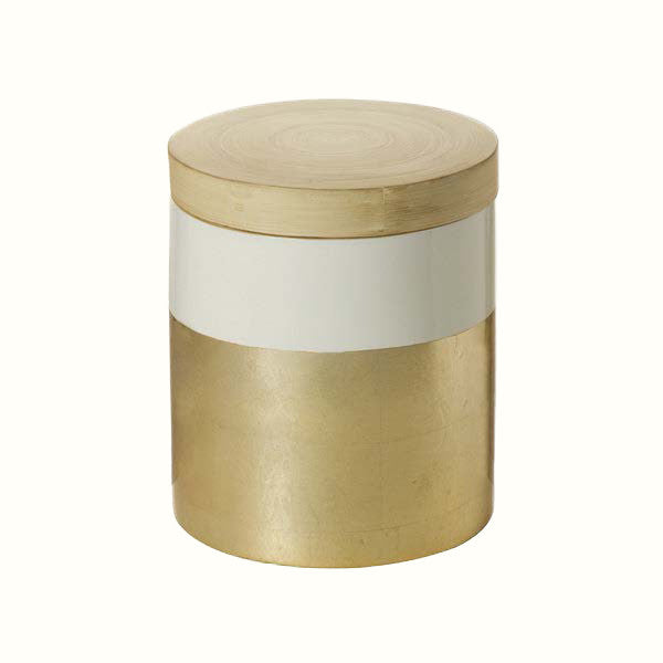 WOODEN METALLIC JAR (3 different sizes)
