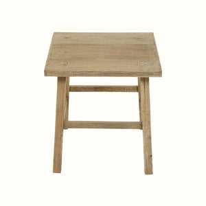WOODEN RUSTIC SIDE TABLE