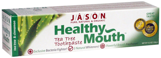 Healthy Mouth® Tartar Control Anti-Cavity Toothpaste - Tea Tree & Cinnamon