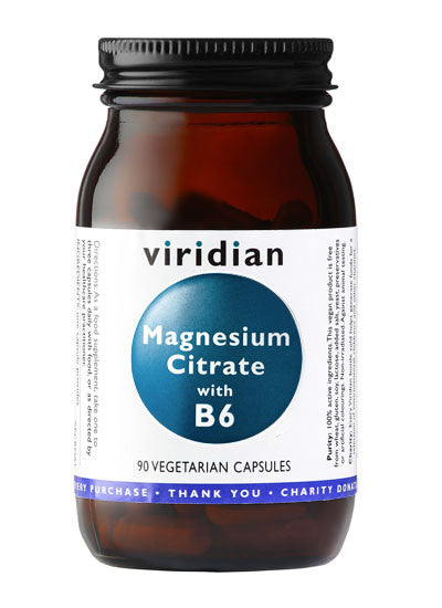 Magnesium Citrate with B6 90 Capsules