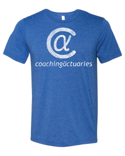 Coaching Actuaries T-Shirt - Distressed Blue Triblend - Free Shipping