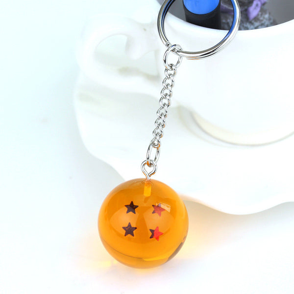 1pc Dragon Ball Z crystal balls 7 Stars Crystal Balls Keychain Pendant Complete set 2.5cm child toys anime action figure