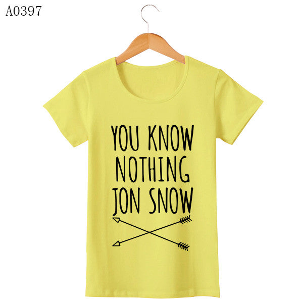 Game Of Thrones T Shirt Winter Is Coming You Know Nothing TShirts MEN Jon Snow Print Men T-Shirt O Neck Cotton Man Tees