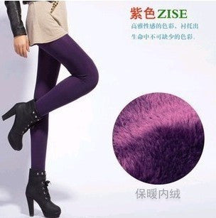 Hot !2016 New Fashion Women's Autumn And Winter High Elasticity And Good Quality Warm Leggings Thick Velvet Pants