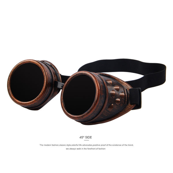 MERRY'S Unisex Gothic Vintage Victorian Style Steampunk Goggles Welding Punk Gothic Glasses Cosplay