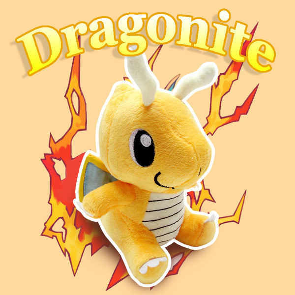 Pocket Monsters Plush Toy Dragonite anime toys Collectible Soft Stuffed Animal Doll Peluche Pokemon Plush Toys For Kids kid Gift