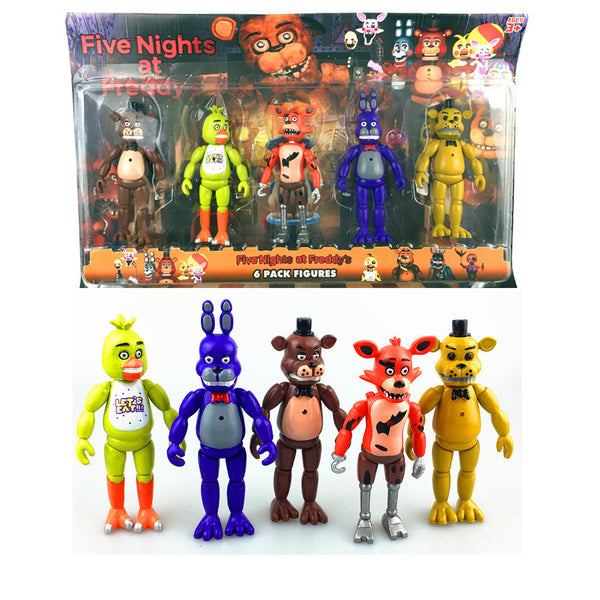 Five Nights At Freddy's FNAF 5.5 Inch PVC Action Figure Toy Foxy Gold Freddy Chica Freddy With 2 Color Christmas gift