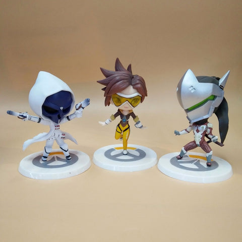 10cm Funko Pop Over OW Watch Heros Tracer Reaper GENJI PVC Action Figures Model Toys