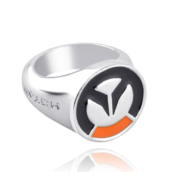 1 Pc Overwatch Ring Hot Game OW Silver Men Women Rings Cosplay Male Jewelry Friendship Gift bague