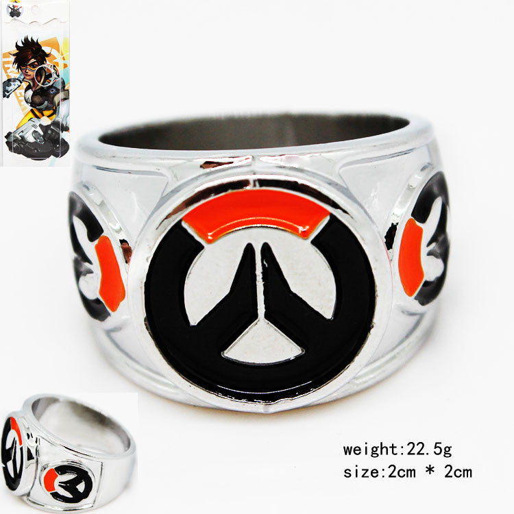 OverWatch Cosplay Mental Ring Fashion Ring for Men Designer Jewelry KT2821