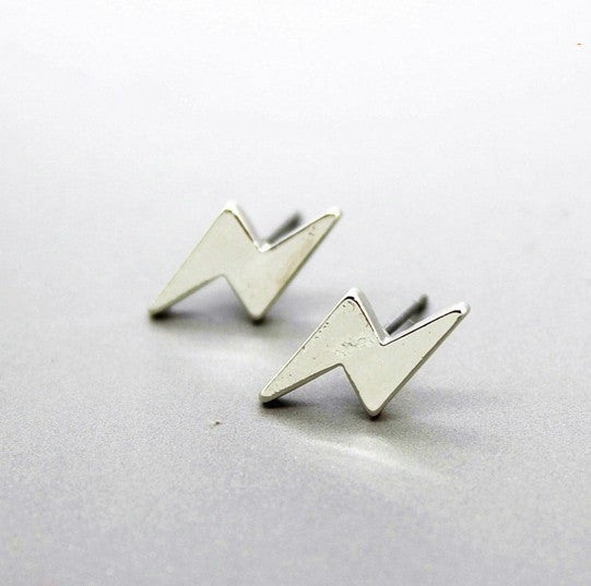 Pameng New fashion black Silver Color 3  western triangle round flash stud earrings for women gifts jewelry Gold Color
