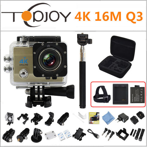 (Knockoff GoPRO) Topjoy 4K Action Camera 16M 4640*3480 Waterproof  Mini WiFi Action Sports Camera 2 inch 170D 60FPS 120FPS UHD 4K Action Camera