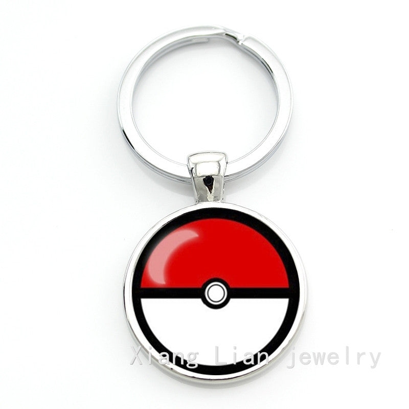 New Arrival Friendship Pokemon key chain fine men and women jewelry round ball design key ring party jewelry NS302-7 NS302-8