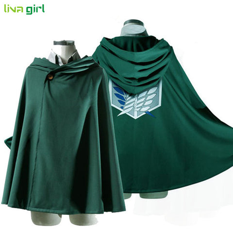 Anime Shingeki no Kyojin Cloak Cape Clothes Unisex Coser Cloak Cartoon Costumes Cosplay Attack on Titan Plus Size Men Women New