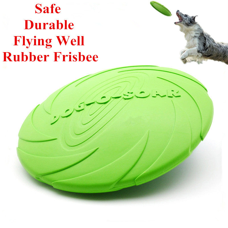 Eco-friendly Pet Product Natural Rubber Material Pet Dog Toy Frisbee Dog Training