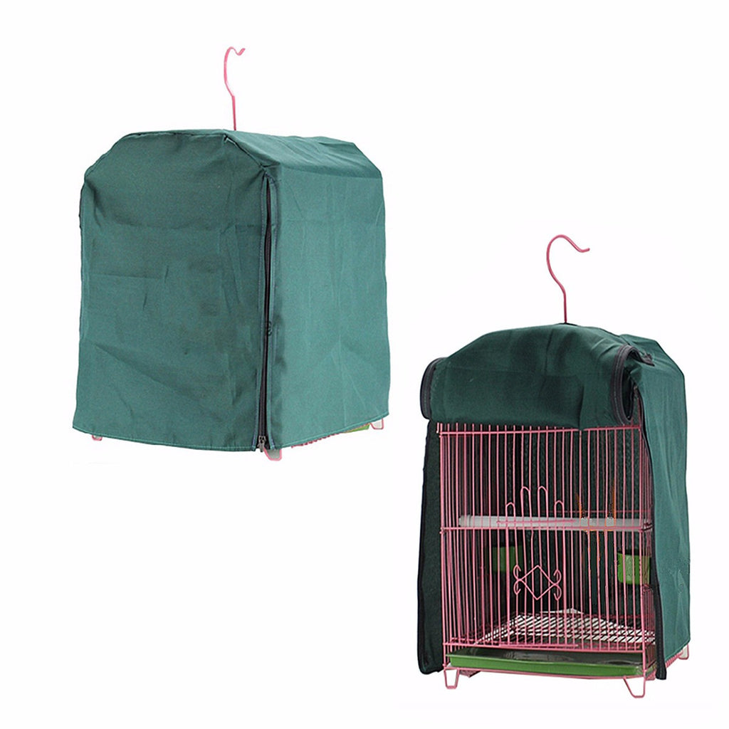 Parrot Budgie Bird Cage Cover 44x32cm Canary Shade Cloth Green Functional Bird Sleep Reduces Distractions Without Cage