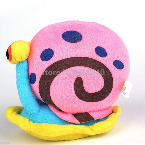 New 2016 Colorful Cartoon Cute Stuffed Toys THE SNAIL From Spongebob Series BEANIE BABY