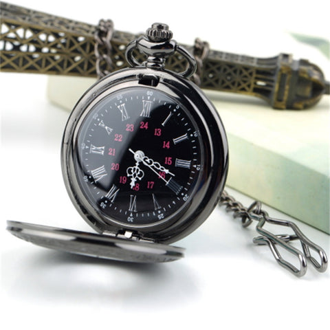2017 Unisex Pocket Watch Roman Pattern Fashion Steampunk Retro Vintage Quartz Hollow Pointer with Roman numerals Display Newest