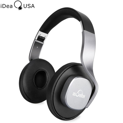 iDeaUSA V204 Wireless Bluetooth Headphones Stereo Mega Bass Over Ear Headphones Foldable and Lightweight 25 Hours Music Playback
