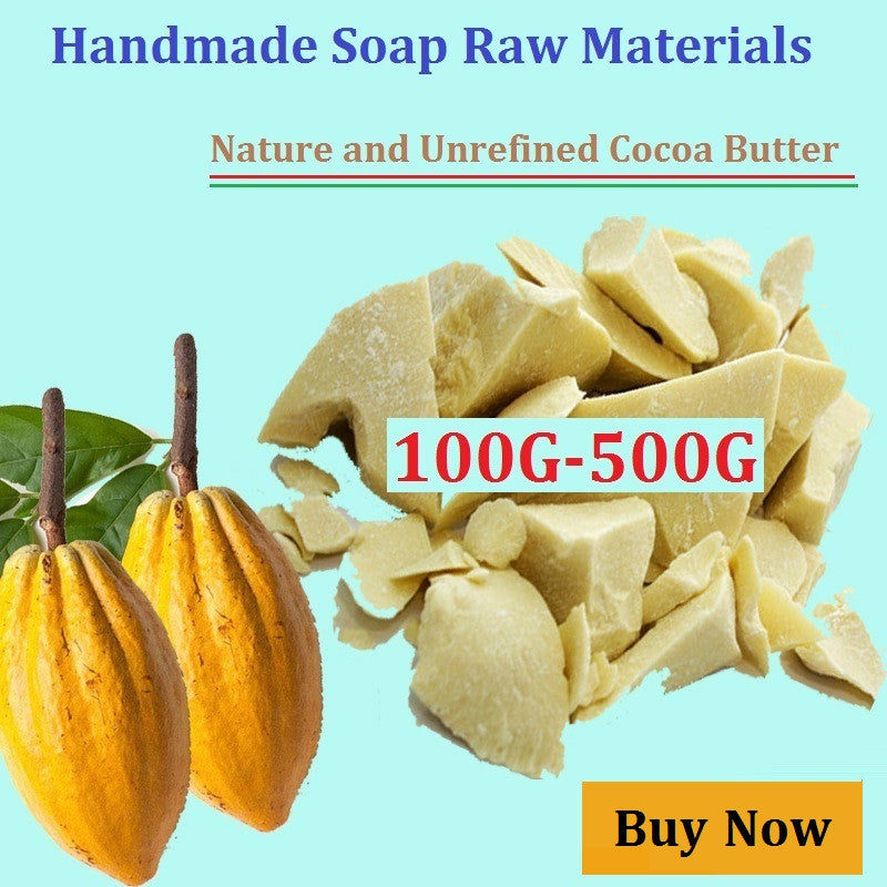 Pure Cocoa Butter 50G -500G Ounces Raw Unrefined Cocoa Butter Base Oil  Natural ORGANIC  2016 NEW Essential Oil