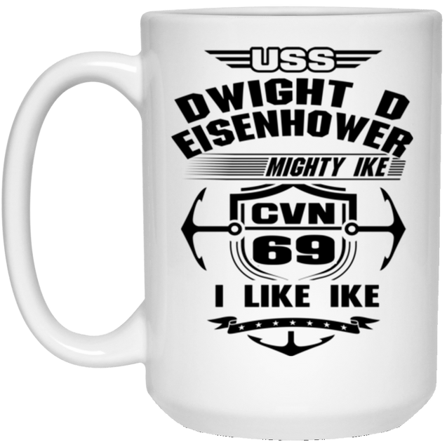 USS Dwight D. Eisenhower CVN-69 Coffee Mugs