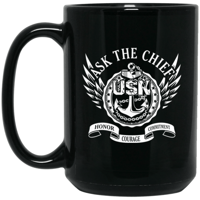 Ask The Chief  USN Coffee Mugs