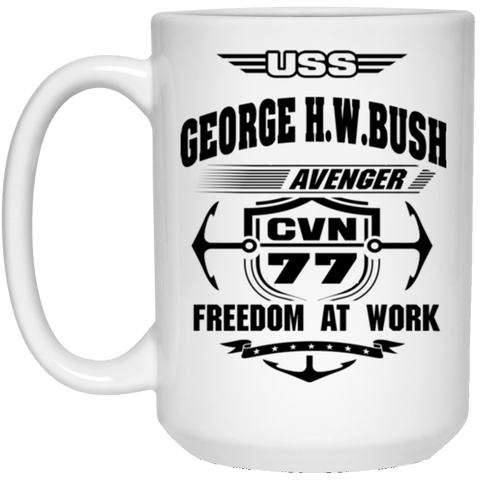 USS George H.W Bush CVN-77 Coffee Mugs