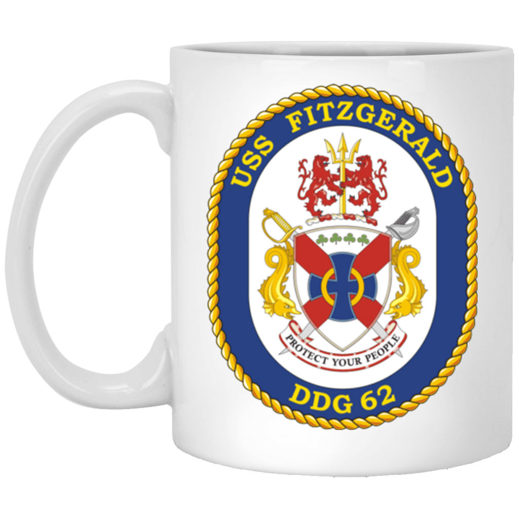 USS Fitzgerald DDG 62 Coffee Mugs