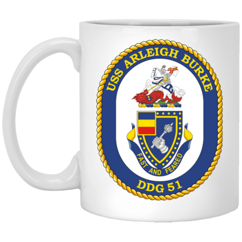 USS Arleigh Burke DDG 51 Coffee Mugs