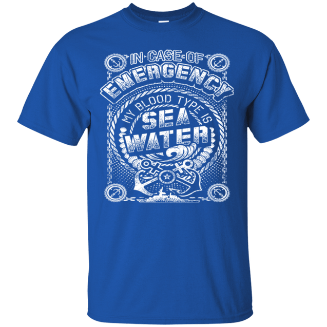 MY BLOOD TYPE SEA WATER T Shirts and Hoodies