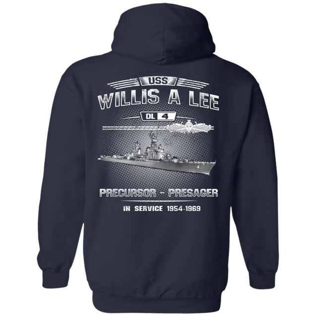 USS Willis A Lee DL 4 T Shirts and Hoodies