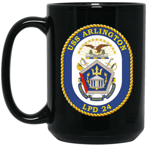 USS Arlington LPD 24 Coffee Mugs