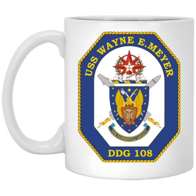USS Wayne E. Meyer DDG 108 Coffee Mugs