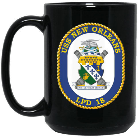 USS New Orleans LPD 18 Coffee Mugs