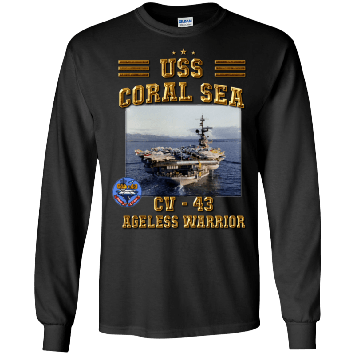 USS Coral Sea CV 43 T Shirts and Hoodies
