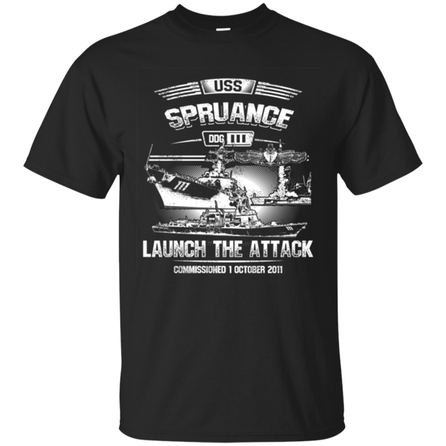 USS Spruance DDG 111 T Shirts and Hoodies