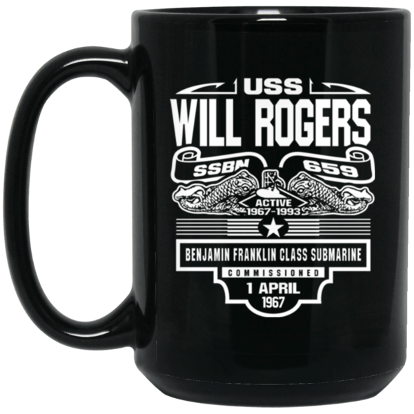 USS WILL ROGER SSBN-659 Coffee Mugs