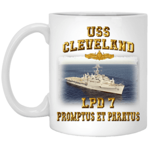 USS Cleveland LPD 7 Coffee Mugs