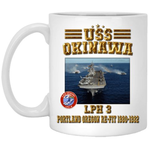 USS OKINAWA LPH 3 Coffee Mugs