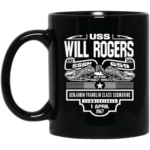 Image of USS WILL ROGER SSBN-659 Coffee Mugs