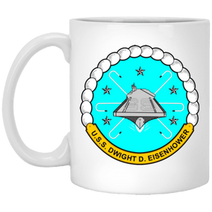 USS Dwight D Eisenhower CVN 69 Coffee Mugs